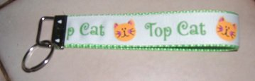 MadieBs Top Cat Feline Cute Key Fob Wristlet New