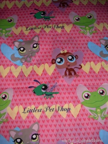 MadieBs My Little Pet Shop  Cotton Personalized Custom  Pillowcase  w/Name