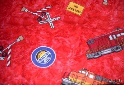 MadieBs Trains Locomotives Custom Cotton  Nap Mat Pad Cover w/Name