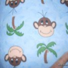 MadieBs Cute Monkey Flannel  Personalized Custom  Pillowcase  w/Name