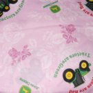MadieBs  John Deere Tractors on Pink Cotton Toddler Bed Sheet Set 3 Pc