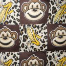 MadieBs  Monkey & Bananas on Cotton Flannel Personalized Custom  Pillowcase  w/Name