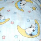 MadieBs Sweet Snoopy on Blue  Cotton  Personalized Custom  Pillowcase  w/Name