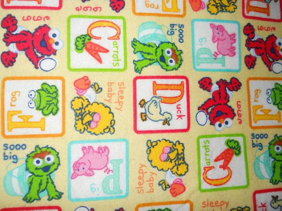 MadieBs  Seasame Street Characters Cotton  Personalized Custom  Pillowcase  w/Name