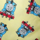 MadieBs  Thomas the Train on Yellow Flannel Cotton Toddler Bed Sheet Set 3 Pc