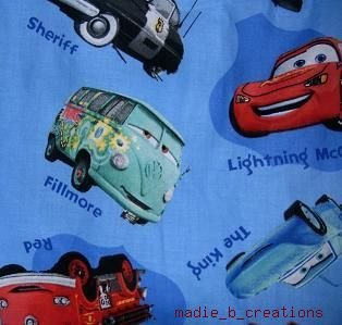 MadieBs Set of 2 McQueen Sherriff  Cars Blue Cotton  Crib Sheets