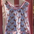 MadieBs Patrotic Rooster  Cotton Fabric Custom Smock Cobbler Apron