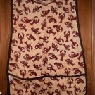 MadieBs Lobsters on Tan  Cotton Fabric Custom Smock Cobbler Apron