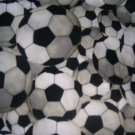 MadieBs Soccer Balls Black and White  Custom Cotton Toddler Bed Sheet Set 3 Pc