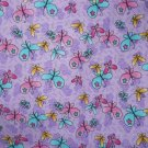 MadieBs Colorful Butterflies on Lavendar  Custom Cotton Toddler Bed Sheet Set 3 Pc