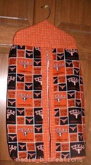 MadieBs Custom Texas Longhorns Orange Black  Diaper Stacker New