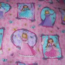 MadieBs Fairy Princess Portraits on Pink Custom Cotton Toddler Bed Sheet Set 3 Pc