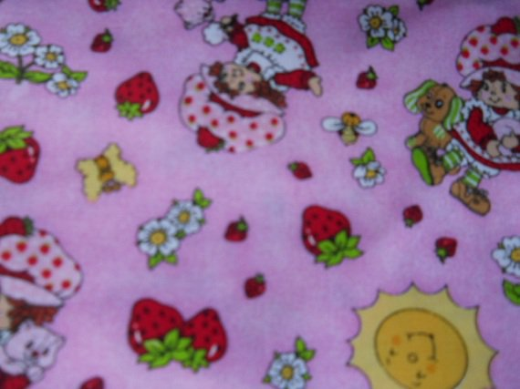 MadieBs Strawberry Shortcake Pink Cotton Personalized Custom  Pillowcase  w/Name