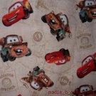 Tan Cars 3 Piece Set  Kinder Nap Mat Pad Cover w/Name
