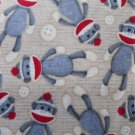 MadieBs Sock Monkey  an  Buttons Nap Mat Pad Cover w/Name