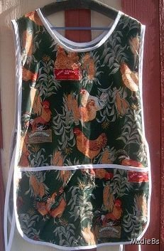 MadieBs Hen and Rooster Print  Cotton New Custom Smock Cobbler Apron