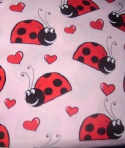 MadieBs Lady Bugs on Pink Cotton Nap Mat Pad Cover w/Name