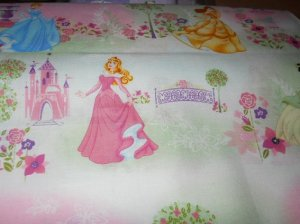 MadieBs Princess Belle Snow White Cotton Nap Mat Pad Cover w/Name