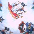 MadieBs Set of 2 Pirates Ships Fitted  Cotton  Crib Sheets
