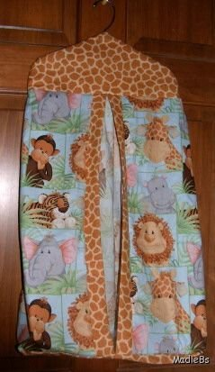 MadieBs Jungle Babies Giraffe Trim Custom  Diaper Stacker New