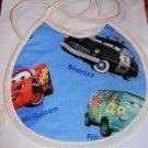 MadieBs Pixar Cars Custom 3 Piece Bib Set 1 Blue 1 Red 1 Racing Check