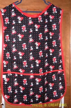 MadieBs Red Hearts and Bears Cotton New Custom Smock Cobbler Apron