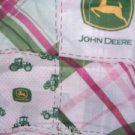MadieBs John Deere Madri Pink Plaid  Cotton Fitted  Crib Sheet Custom New