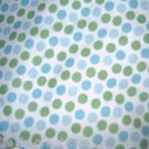 MadieBs Blue and Green Dots Fitted  Crib Sheet Custom New
