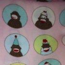MadieBs Sock Monkey Circles Fitted  Crib Sheet Custom New