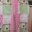 MadieBs John Deere Plaid with Pink Trim  Custom  Diaper Stacker New