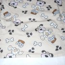 MadieBs Puppies and Bones Flanne  Cotton Personalized Custom  Pillowcase  w/Name