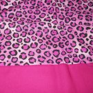 MadieBs Pink Leopard Cheeta  Cotton Personalized Custom  Pillowcase  w/Name