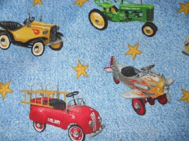 MadieBs Vintage Pedal Cars  Cotton Personalized Custom  Pillowcase  w/Name