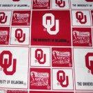 MadieBs Oklahoma Sooners Cotton Fitted  Crib Sheet Custom New