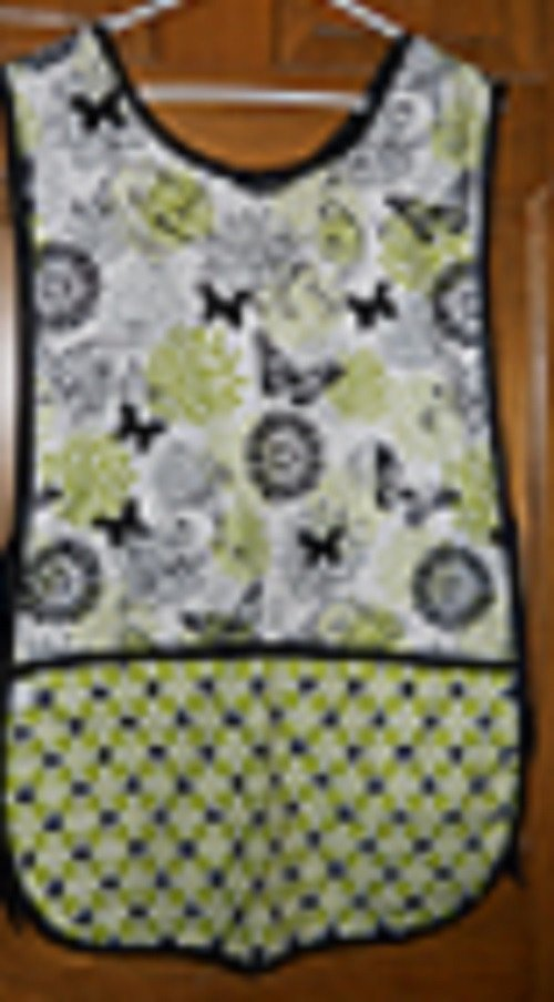 MadieBs Biutterflies with Plaid and Circles New Custom Smock Cobbler Apron
