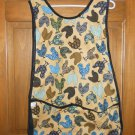 MadieBs Calio Chickens on Tan Cotton New Custom Smock Cobbler Apron