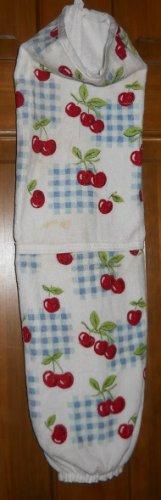 MadieBs Lots of Cherries Plastic Bag Holder Dispenser