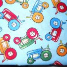 MadieBs tractors on Blue Cotton Personalized Custom  Pillowcase  w/Name