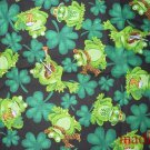 MadieBs Frogs and Shamrocks  Cotton Personalized Custom  Pillowcase  w/Name