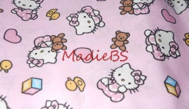 MadieBs Hello Kitty Pink Standard Pillowcase with name