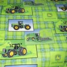 MadieBs Custom John Deere Green Plaid 3 Piece Toddler Sheet Set
