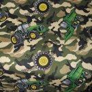 MadieBs Custom crib sheet  John Deere Green Tractor Camo