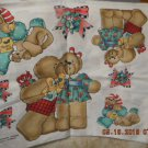 Under the Missletoe  Christmas Bear Applique Panel Daisy Kingdom, Inc 1992