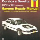Haynes Repair Manuals - Chevrolet Corsica and Beretta 1987 thru 1996