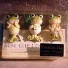 BNIP Handmade Hullic, Estudio 11 Whimsical Three Frog Mini Clip Collection - 199