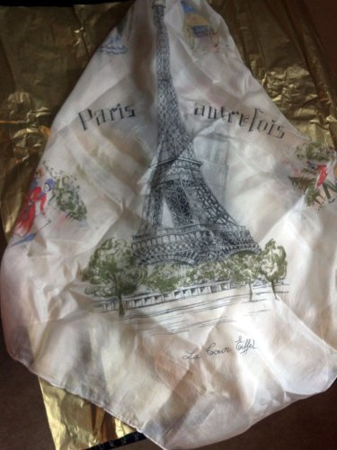 1960's World Fair Silk Scarf made in France