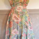 Rare 1960's Soft Colored Hawaiian Print Summer Dress (Dont see this anymore)