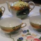 """HAND PAINTED 1940"""" S NIPPON PORCELAIN CHINA TEA SET FROM JAPAN"""