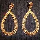 Luxury Crystal Pave Tear Drop Gold Plated Earrings