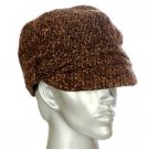 Jacquard Cabbie with Front Band Cabbie Hat Newsboy Cap Brown